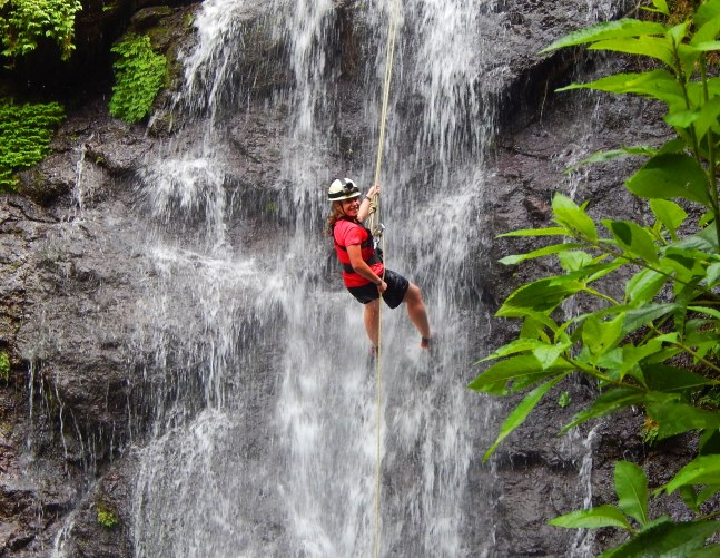 girl-scout-rappells-waterfall-with-outward-bound-costa-rica